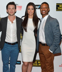 Michael Charles Roman, Anabelle Acosta and Arjay Smith at the world premiere of