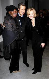 Grace Jones, Mario Testino and Louise T. Blouin at the opening night of the Louise T. Blouin Institute.
