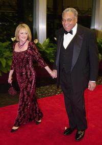 James Earl Jones and wife Celia at the Kennedy Center Honors Gala.