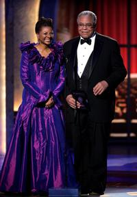 James Earl Jones and Leslie Uggam at the 59th Annual Tony Awards.