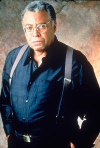 James Earl Jones on the set of