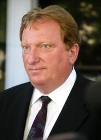 Jeffrey Jones at the press conference in Los Angeles, California.