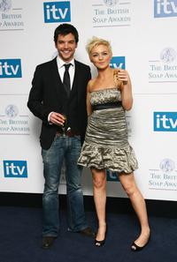 Andrew Lee Potts and Hannah Spearritt at the British Soap Awards 2008.