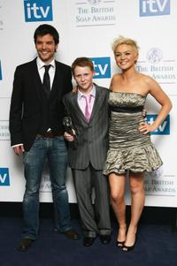 Andrew Lee Potts, Jamie Borthwick and Hannah Spearritt at the British Soap Awards 2008.