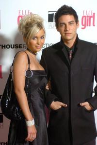 Trevor Wright and Guest at the First Annual ELLEGIRL Hollywood Prom party.