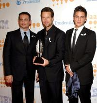 Neil Giuliano, Brad Rowe and Trevor Wright at the 20th Annual GLAAD Media Awards.