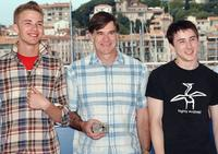 Elias McConnell, director Gus Van Sant and Alex Frost at the photocall of