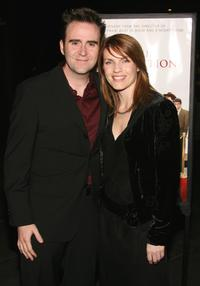 Christopher Moynihan and Guest at the premiere of