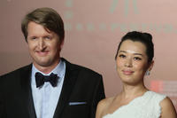 Director Tom Hooper and Yu Nan at the opening ceremony of 16th Shanghai International Film Festival.