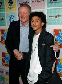 Jon Voight and Khleo Thomas at the premiere of