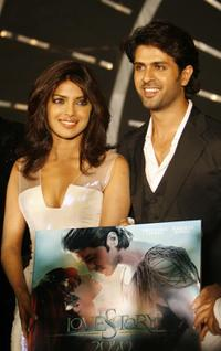 Priyanka Chopra and Harman Baweja at the music launch of