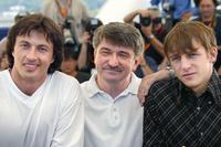 Andrej Shetinin, Alexander Sokourov and Alexei Nejmyshev at the screening of