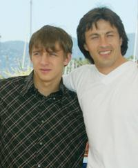 Alexei Nejmyshev and Andrej Shetinin at the photocall of