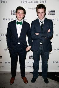 Esteban Carvajal Alegria and Gregoire Leprince-Ringuet at the Chaumet's Cocktail Party and Dinner for Cesar's Revelations 2009.