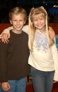 Cayden Boyd and Jenna Boyd at the world premiere of