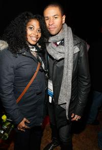 Rebecca Jones and Chad Goodridge at the William Morris Agency Independent Sundance party.