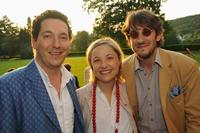 Guillaume Gallienne, Guest and Nicolas d'Estienne d'Orves at the Prix Mont-Blanc de la Culture.