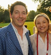 Guillaume Gallienne and Guest at the Prix Mont-Blanc de la Culture.