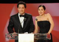 Guillaume Gallienne and Amira Casar at the Cesar Film Awards.