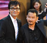Liu Kai-chi and Guest at the 28th Hong Kong Film Awards (HKFA) presentation ceremony.