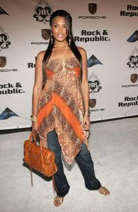 K.D. Aubert at the Rock and Republic Spring 2006 show during the Mercedes-Benz Fashion Week.
