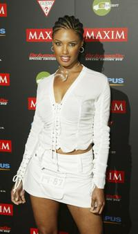 K.D. Aubert at the Maxim Hot 100 party.