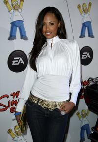 K.D. Aubert at the EAs Official Launch of The Simpsons Game.