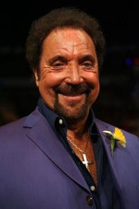 Tom Jones at the Joe Calzaghe of Wales and Bernard Hopkins light heavyweight bout.