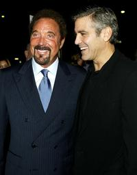Tom Jones and George Clooney at the world premiere of