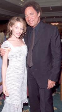 Tom Jones and Kylie Minogue at the Silver Clef Awards.