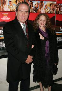 Tommy Lee Jones and Melissa Leo at the premiere of