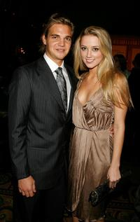 Taylor Handley and Amber Heard at the CW Network Winter TCA party.