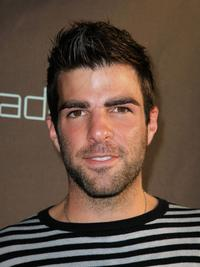 Zachary Quinto at the decadestwo grand re-opening celebration.