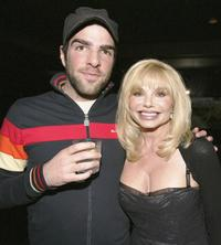 Zachary Quinto and Loni Anderson at the VH1
