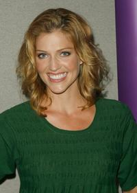 Tricia Helfer at the 2007 Comic-Con press panel.