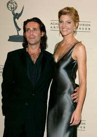 James Callis and Tricia Helfer at the 2005 Creative Arts Emmy Awards.