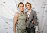 Nick James and Tricia Helfer at the Mercedes-Benz Fashion week.