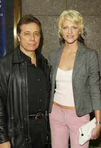 Edward James Olmos and Tricia Helfer at the NBC Primetime Preview.