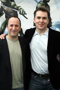 Mitchell Whitfield and Nolan North at the premiere of
