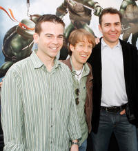 Mikey Kelley, James Arnold Taylor and Nolan North at the California premiere of