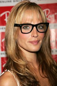 Molly Sims at the party to celebrate Ray-Ban Wayfarer sunglasses.