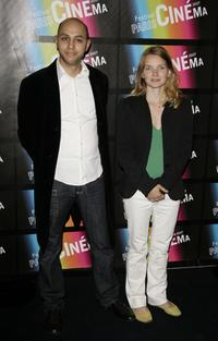 Sophie Quinton and Guest at the opening night of Paris Cinema Festival 2007.