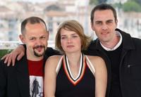 Gilles Marchand, Sophie Quinton and Laurent Lucas at the photocall of