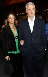 Talia Balsam and her husband John Slattery at the opening of