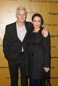 John Slattery and Talia Balsam at the Hugo Boss Prize 2008.