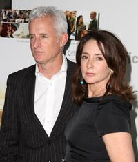 John Slattery and Talia Balsam at the red carpet screening of