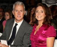 John Slattery and Talia Balsam at the Nanette Lepore Spring 2009 fashion show during the Mercedes-Benz Fashion Week.
