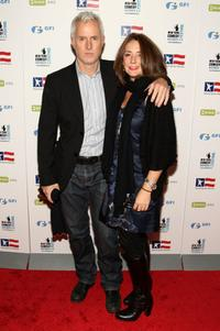 John Slattery and Talia Balsam at the 2008 Stand Up For Heroes: A Benefit for the Bob Woodruff Foundation.