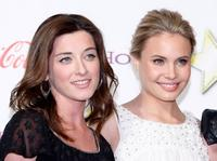 Margo Harshman and Leah Pipes at the ShoWest Awards.