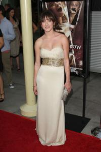 Margo Harshman at the premiere of